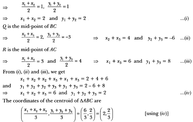 Coordinate Geometry Class 10 Extra Questions Maths Chapter 7 with Solutions Answers 75