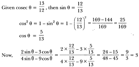 Introduction to Trigonometry Class 10 Extra Questions Maths Chapter 8 with Solutions Answers 18