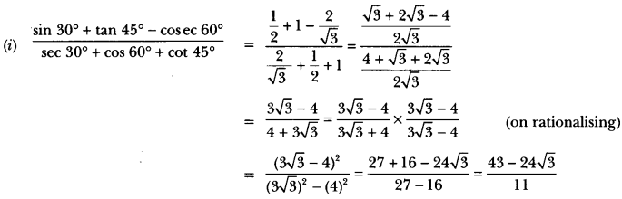Introduction to Trigonometry Class 10 Extra Questions Maths Chapter 8 with Solutions Answers 28