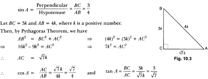 Introduction to Trigonometry Class 10 Extra Questions Maths Chapter 8 with Solutions Answers 4
