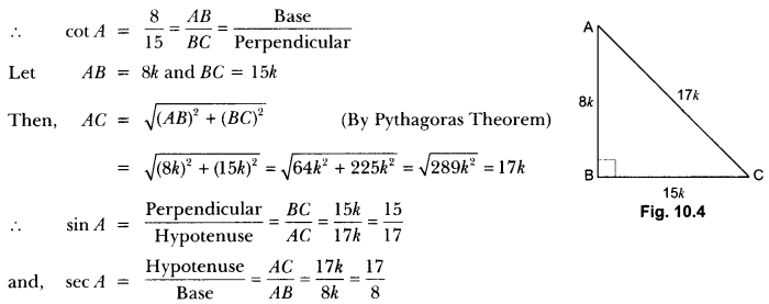 Introduction to Trigonometry Class 10 Extra Questions Maths Chapter 8 with Solutions Answers 5
