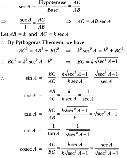 Introduction to Trigonometry Class 10 Extra Questions Maths Chapter 8 with Solutions Answers 57