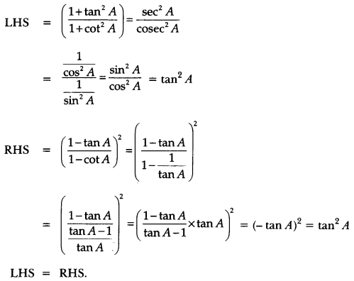 Introduction to Trigonometry Class 10 Extra Questions Maths Chapter 8 with Solutions Answers 59