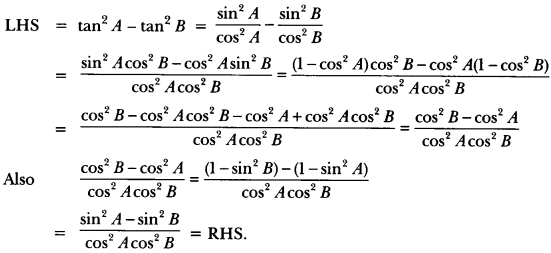 Introduction to Trigonometry Class 10 Extra Questions Maths Chapter 8 with Solutions Answers 61