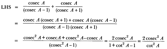 Introduction to Trigonometry Class 10 Extra Questions Maths Chapter 8 with Solutions Answers 63