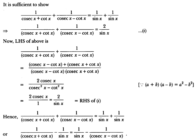 Introduction to Trigonometry Class 10 Extra Questions Maths Chapter 8 with Solutions Answers 67