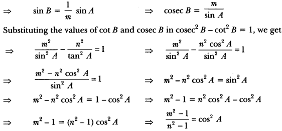 Introduction to Trigonometry Class 10 Extra Questions Maths Chapter 8 with Solutions Answers 73
