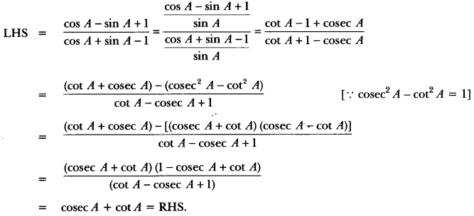Introduction to Trigonometry Class 10 Extra Questions Maths Chapter 8 with Solutions Answers 74
