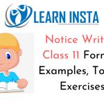 Notice Writing Class 11