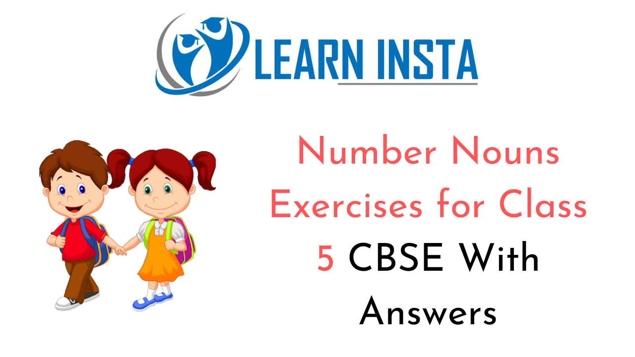 Number Nouns Exercises For Class 5 Cbse With Answers