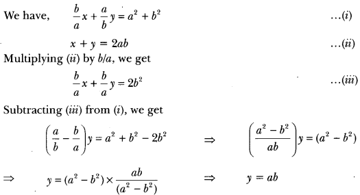 Pair of Linear Equations in Two Variables Class 10 Extra Questions Maths Chapter 3 with Solutions Answers 16