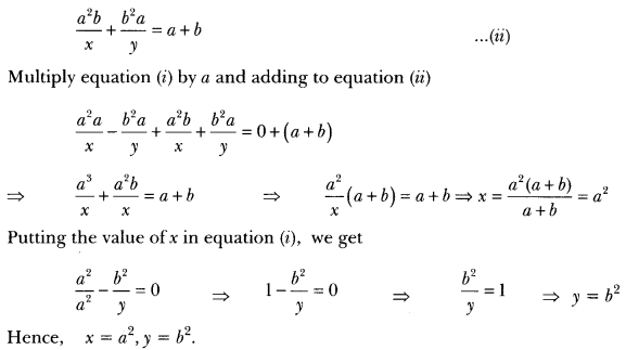 Pair of Linear Equations in Two Variables Class 10 Extra Questions Maths Chapter 3 with Solutions Answers 25