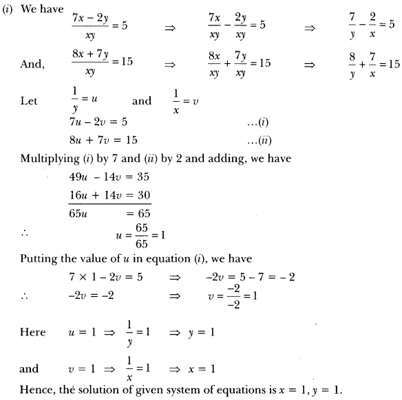 Pair of Linear Equations in Two Variables Class 10 Extra Questions Maths Chapter 3 with Solutions Answers 29