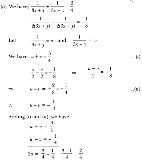 Pair of Linear Equations in Two Variables Class 10 Extra Questions Maths Chapter 3 with Solutions Answers 30
