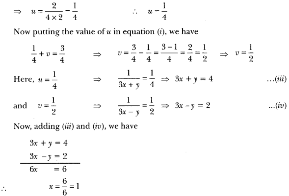 Pair of Linear Equations in Two Variables Class 10 Extra Questions Maths Chapter 3 with Solutions Answers 31