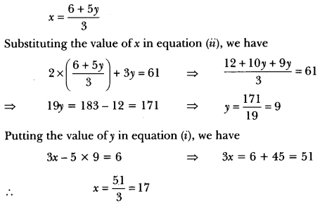 Pair of Linear Equations in Two Variables Class 10 Extra Questions Maths Chapter 3 with Solutions Answers 47