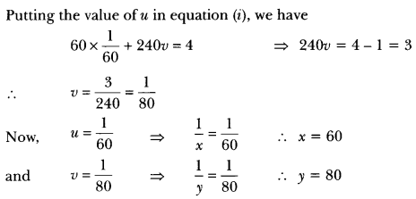 Pair of Linear Equations in Two Variables Class 10 Extra Questions Maths Chapter 3 with Solutions Answers 50