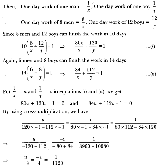 Pair of Linear Equations in Two Variables Class 10 Extra Questions Maths Chapter 3 with Solutions Answers 54