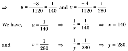 Pair of Linear Equations in Two Variables Class 10 Extra Questions Maths Chapter 3 with Solutions Answers 55