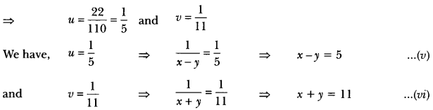 Pair of Linear Equations in Two Variables Class 10 Extra Questions Maths Chapter 3 with Solutions Answers 58