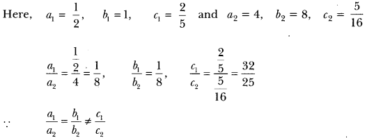 Pair of Linear Equations in Two Variables Class 10 Extra Questions Maths Chapter 3 with Solutions Answers 7