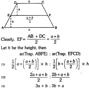 Areas of Parallelograms and Triangles Class 9 Extra Questions Maths Chapter 9 with Solutions Answers 4