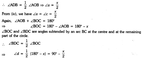 Circles Class 9 Extra Questions Maths Chapter 10 with Solutions Answers 23