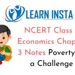 NCERT Class 9 Economics Chapter 3 Notes