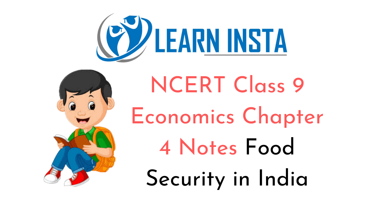 NCERT Class 20 Economics Chapter 20 Notes Food Security in India