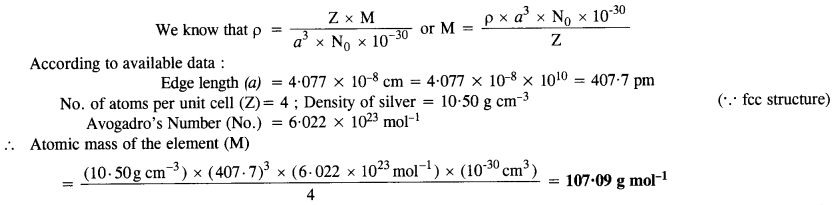 NCERT Solutions For Class 12 Chemistry Chapter 1 The Solid State 10