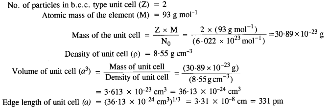 NCERT Solutions For Class 12 Chemistry Chapter 1 The Solid State 111