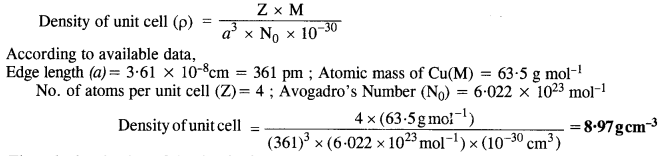 NCERT Solutions For Class 12 Chemistry Chapter 1 The Solid State 15