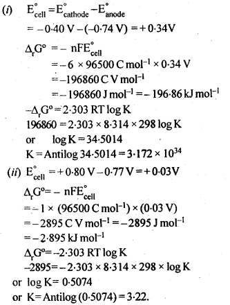 NCERT Solutions for Class 12 Chemistry Chapter 3 Electrochemistry 10