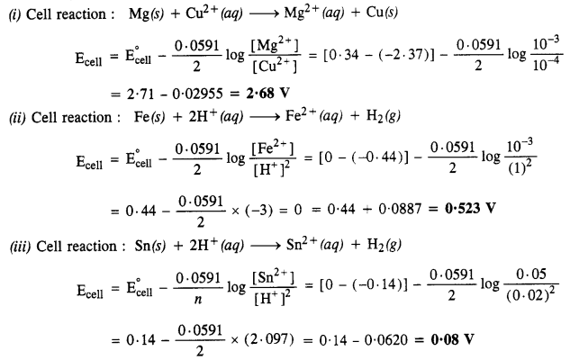 NCERT Solutions for Class 12 Chemistry Chapter 3 Electrochemistry 11