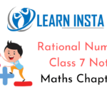 Rational Numbers Class 7 Notes