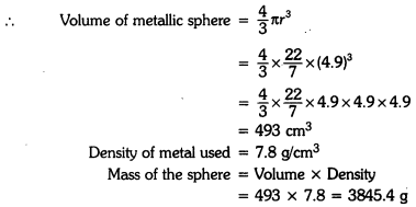 Surface Areas and Volumes Class 9 Extra Questions Maths Chapter 13 with Solutions Answers 1