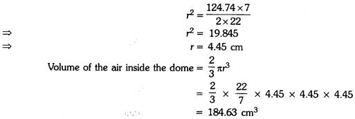 Surface Areas and Volumes Class 9 Extra Questions Maths Chapter 13 with Solutions Answers 11