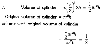 Surface Areas and Volumes Class 9 Extra Questions Maths Chapter 13 with Solutions Answers 2