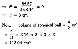 Surface Areas and Volumes Class 9 Extra Questions Maths Chapter 13 with Solutions Answers 3