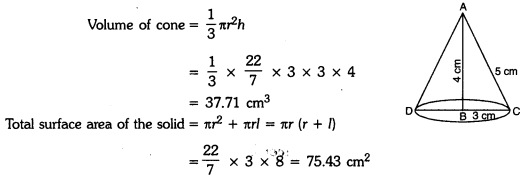 Surface Areas and Volumes Class 9 Extra Questions Maths Chapter 13 with Solutions Answers 7
