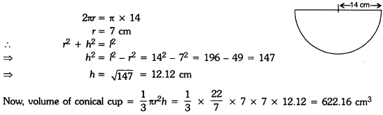 Surface Areas and Volumes Class 9 Extra Questions Maths Chapter 13 with Solutions Answers 8