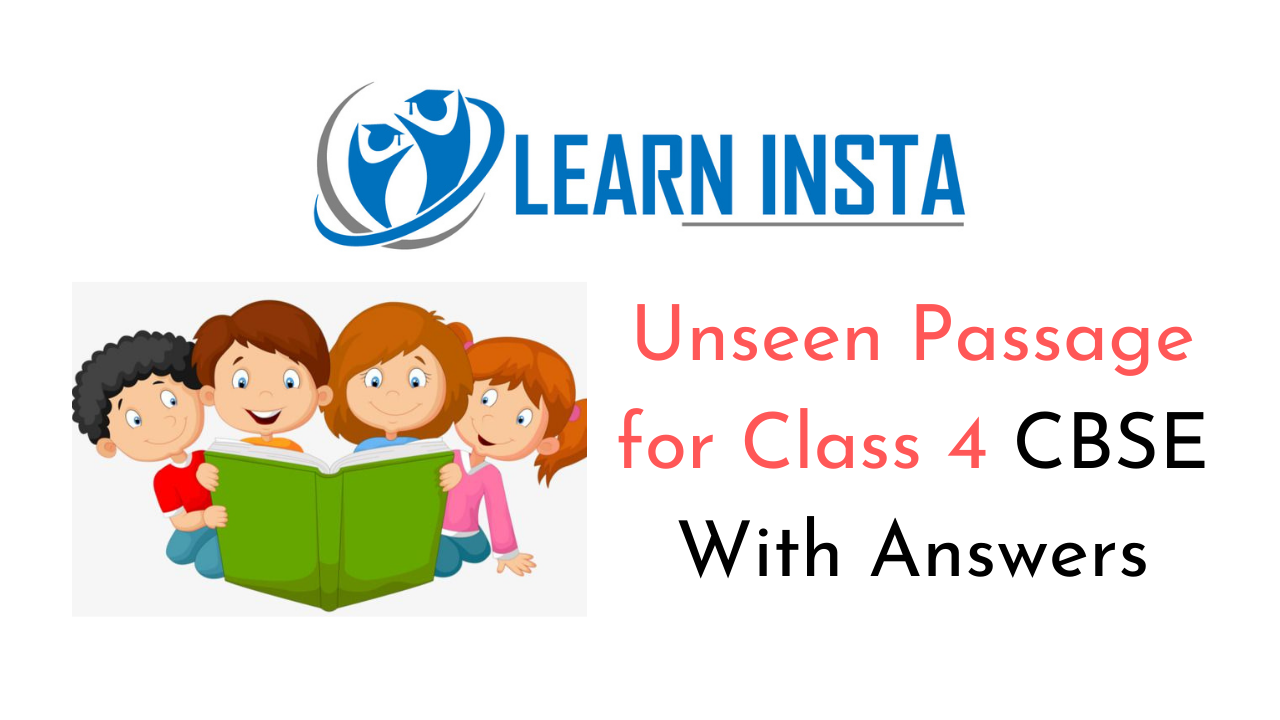 Unseen Passage for Class 4 CBSE With Answers 1