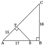 MCQ Questions for Class 10 Maths Chapter 6 Triangles with Answers 1