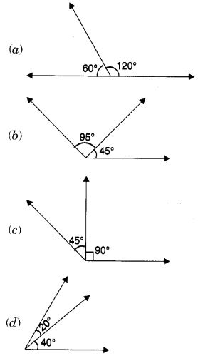 MCQ Questions for Class 7 Maths Chapter 5 Lines and Angles with Answers 5