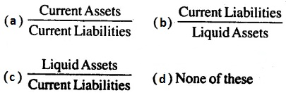 MCQ Questions for Class 12 Accountancy Chapter 10 Accounting Ratios with Answers 4