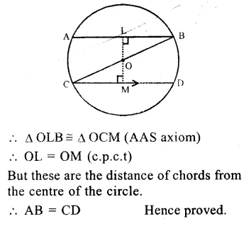 RS Aggarwal Class 9 Solutions Chapter 11 CircleEx 11A Q18.1