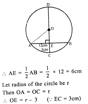 RS Aggarwal Class 9 Solutions Chapter 11 CircleEx 11A Q6.1