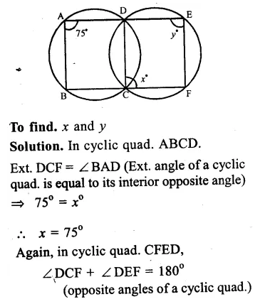RS Aggarwal Class 9 Solutions Chapter 11 CircleEx 11C Q25.1