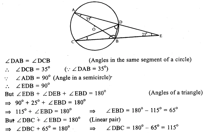 RS Aggarwal Class 9 Solutions Chapter 11 CircleEx 11C Q29.1