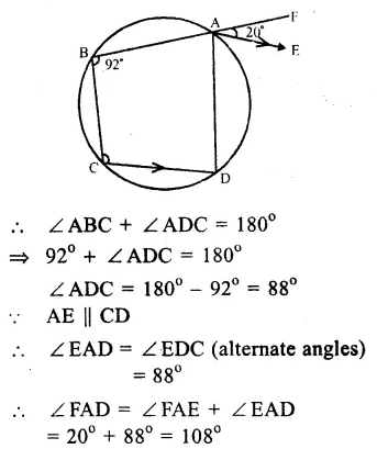 RS Aggarwal Class 9 Solutions Chapter 11 CircleEx 11C Q5.1